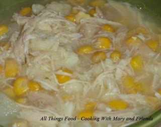 Nanny Walt's Chicken Corn Soup with Rivels