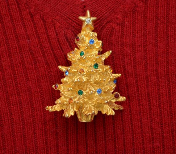 Merksamer Jeweled Christmas Tree Pin Vintage Christmas in July Sale - 25% off any item $20 or more through July 15th - Use Coupon Code CIJ17 #Vintage #Jewelry #fashion #VintageJewelry #GiftForHer #VintageGifts #EtsyGifts #VintageFinds #EtsyVintage #CostumeJewelry #VintageFashion #ChristmasInJuly #EtsyCIJ17 #MerksamerChristmasTreePin #RhinestoneChristmasTreeBrooch