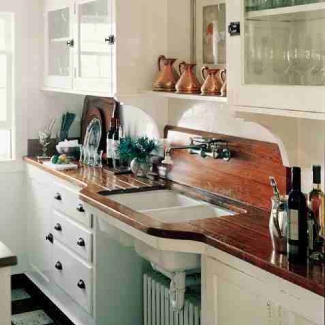 50 Unique Small Kitchen Ideas That You Ve Never Seen: Wood Counter Tops! Ikea I Think?