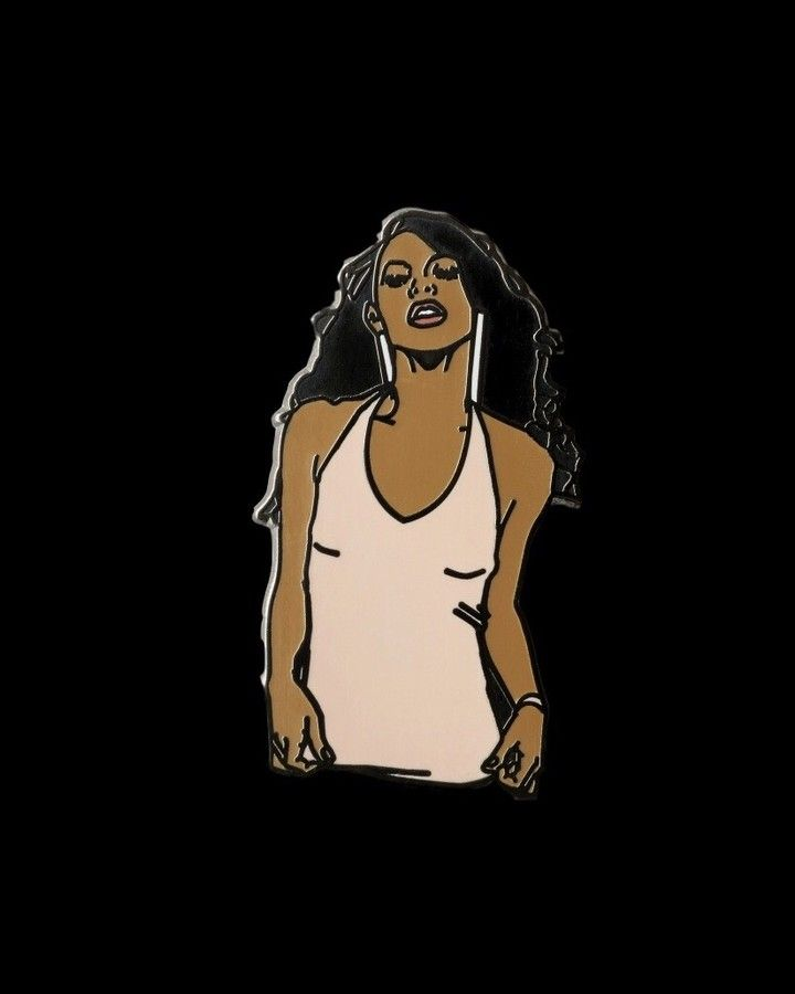 Aaliyah pin from @goodhustlecompany  We miss you!  Available to buy through their link in bio!