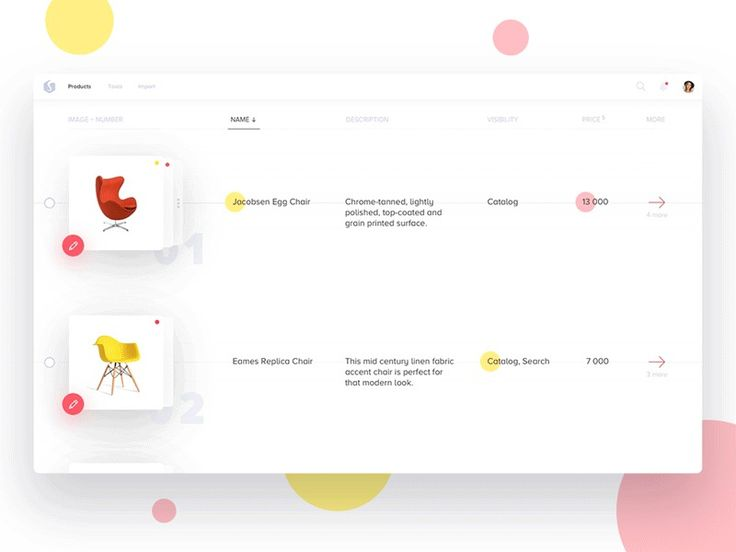 E-commerce web app on UI Movement