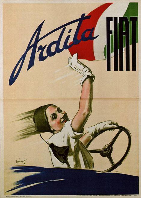 Vintage FIAT poster.