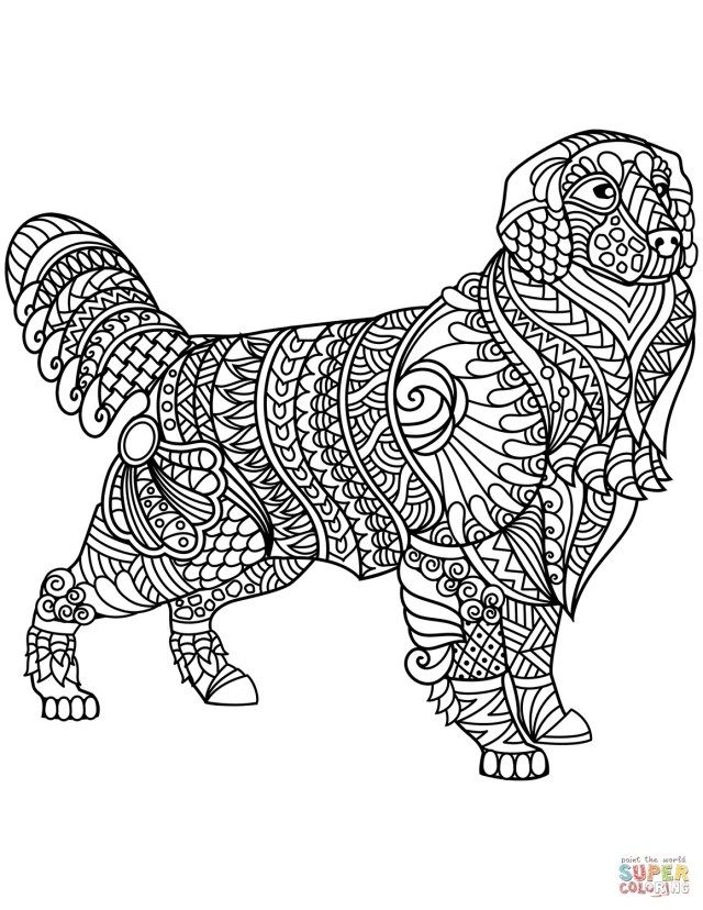 27+ Amazing Picture of Golden Retriever Coloring Page ...