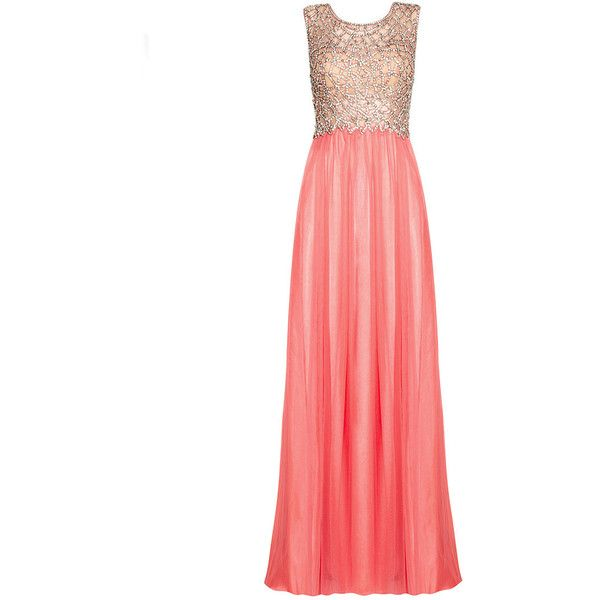 KAITLYN Coral Maxi Prom Dress (930 BRL) ❤ liked on Polyvore featuring dresses, gowns, vestidos, long dresses, prom gowns, white ball gowns, white evening dresses, white dress and white prom gown
