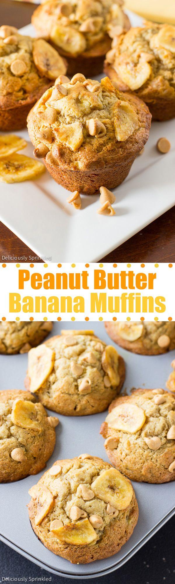 The BEST Peanut Butter Banana Muffins