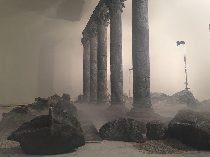 Matt Duddleston Set Build - Barbarians Rising (Sky) Full set Build in Studio, Poly Carved Stone Columns, Mould making, casting