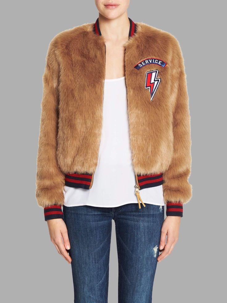 Mother - The Letterman Patch Fur Jacket