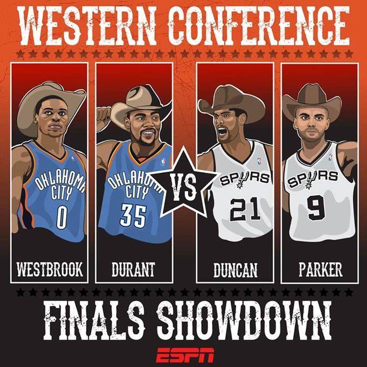 Western Conference Finals : Thunder vs Spurs #NBAPlayoffs
