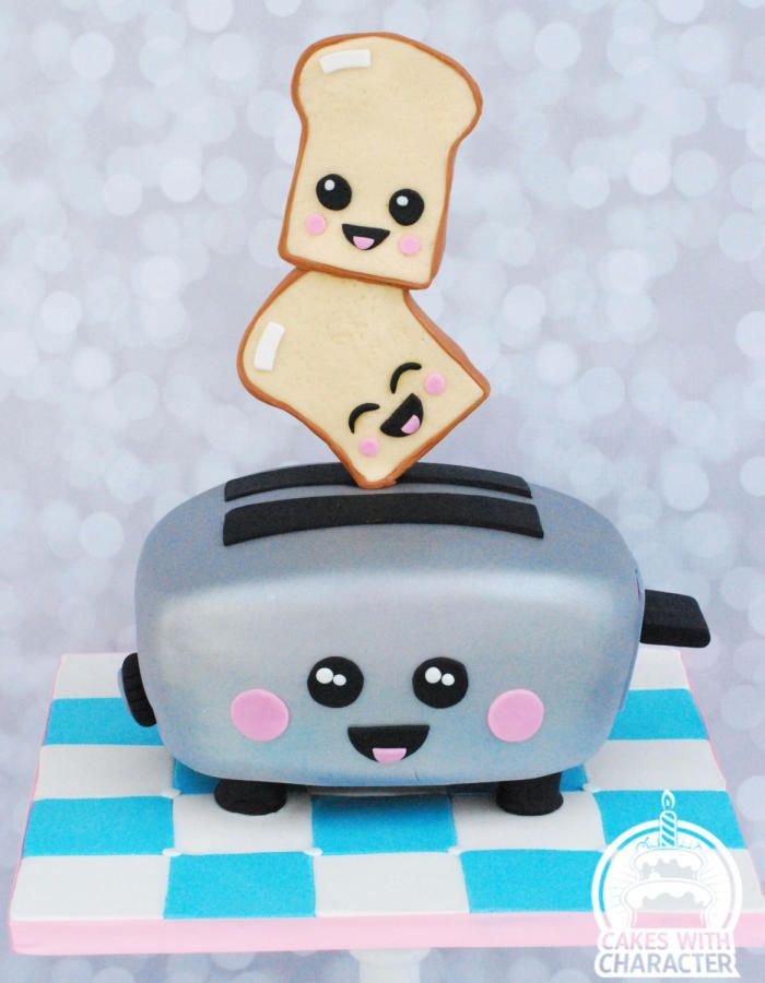 Kawaii toaster by Jean A. Schapowal
