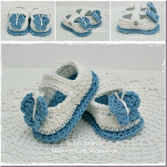 379 besten Babyschoentjes haken Bilder auf Pinterest   Pantoffeln ...