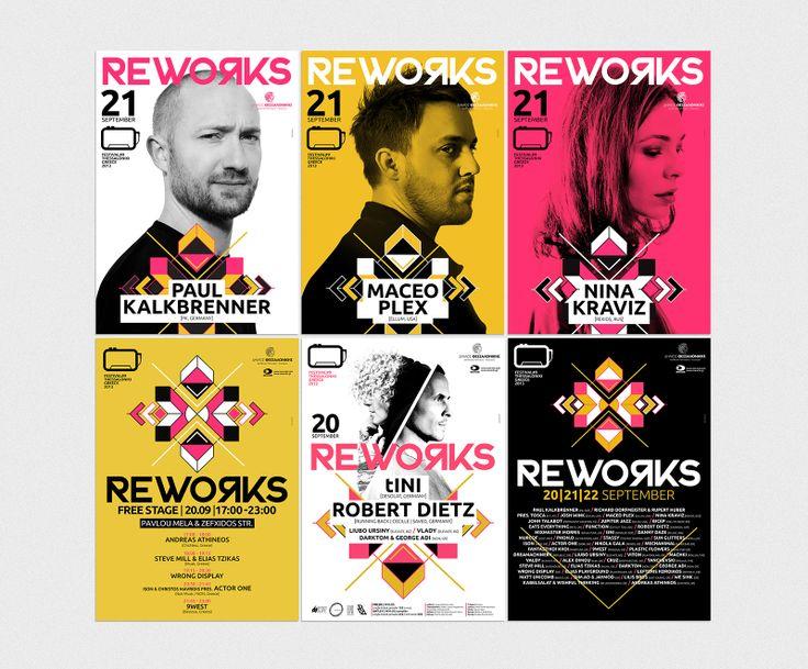 REWORKS FESTIVAL 2013 THESSALONIKI (PAUL KALKBRENNER, MACEO PLEX, NINA KRAVIZ, TINI, ROBERT DIEZ etc.)  / Poster design by kuki graphics https://www.facebook.com/kukigraphicdesign?ref=hl