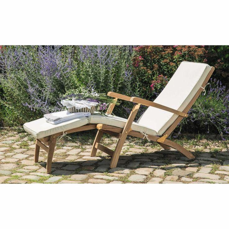 Matelas chaise longue écru L 185 cm | Maisons du Monde