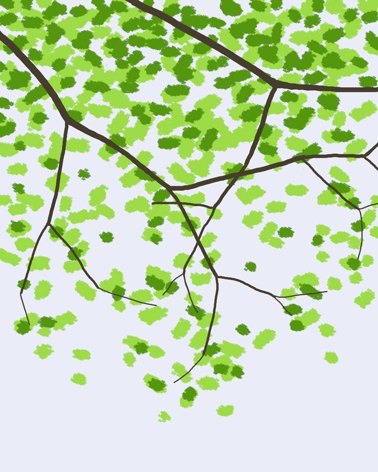 Leafy Tree - Jorey Hurley, via Etsy.
