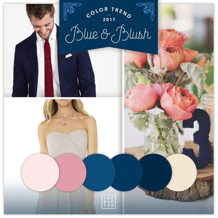 Ask any wedding planner and they'll tell you that one of the BIG color trends of 2017 is a palette of blue and blush tones! Love these colors but not sure about how to incorporate them into your big day? We've got you covered! SUITS