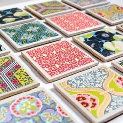 DIY :: Super easy, super cute DIY tile coaster idea... the perfect present?