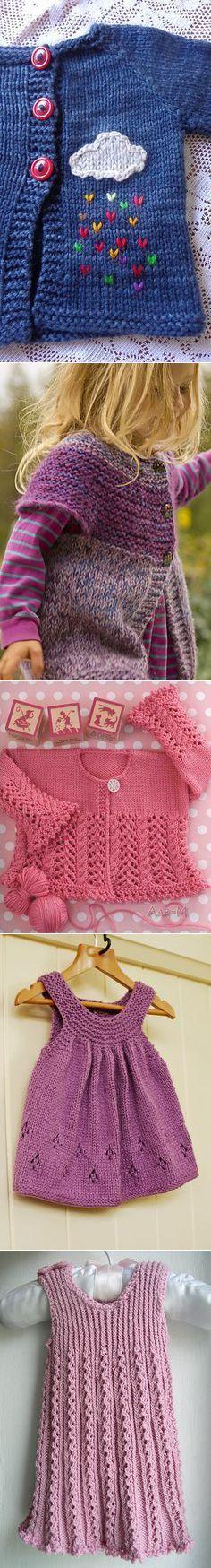 Knitting for Little Girls on Pinterest | 58 Pins | Деткам | Постила