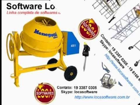 Software Locação software locadora de equipamentos andaimes betoneiras