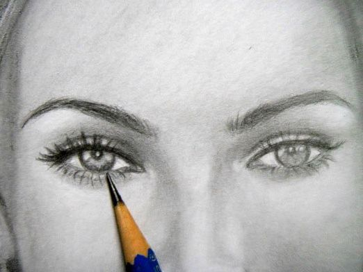 How to draw a face in pencil - http://predlog.com/how-to-draw-a-face-in-pencil.html  #HowTo