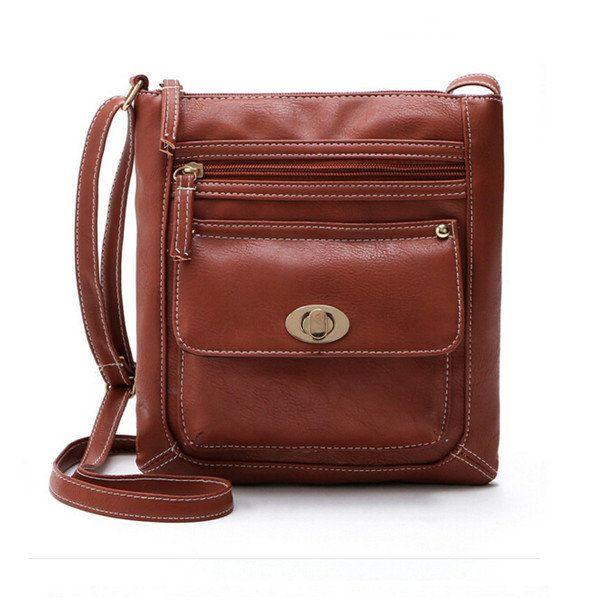 Women PU Leather Crossbody Bag Shoulder Bag - US$12.99  #men #women  #bags #fashion
