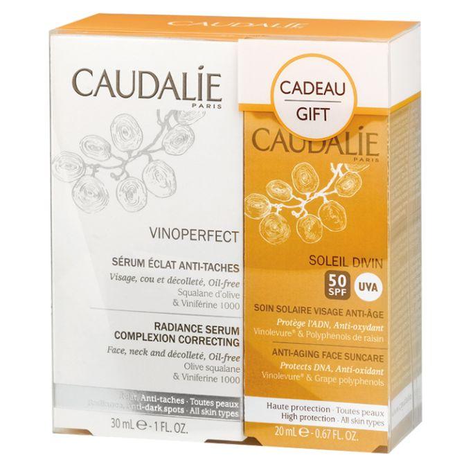 Le Sérum Eclat Anti-Taches de la gamme VINOPERFECT de CAUDALIE est lacté et offre une action anti-taches sans précédent, prouvée scientifiquement dès 4 semaines.Il corrige les taches existantes, prévient leur apparition et sublime l'éclat du teint. Anti-oxydant, il protège votre peau de manière exceptionnelle contre les radicaux libres.Idéal pour en finir avec les taches existantes et prévenir l'apparition de nouvelles taches (masque de grossesse, taches cicatricielles, taches dues à l'âge…