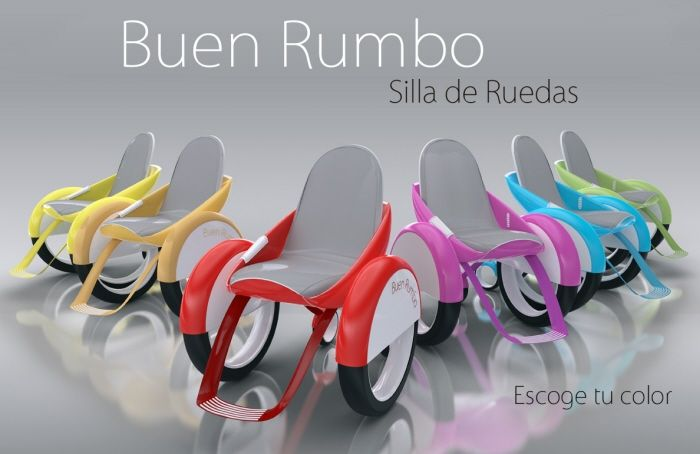 Buen Rumbo Electric Wheelchair Concept ~beautiful- they look like little VW bugs
