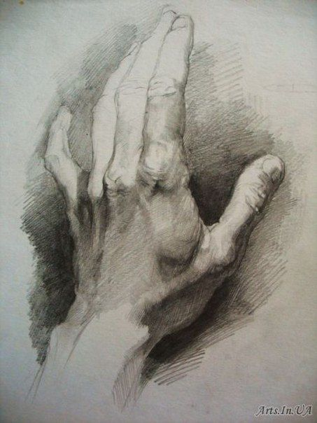 Detail is used to suggest that the hand is tensed which emphasises the idea that he is frustrated or angry.
