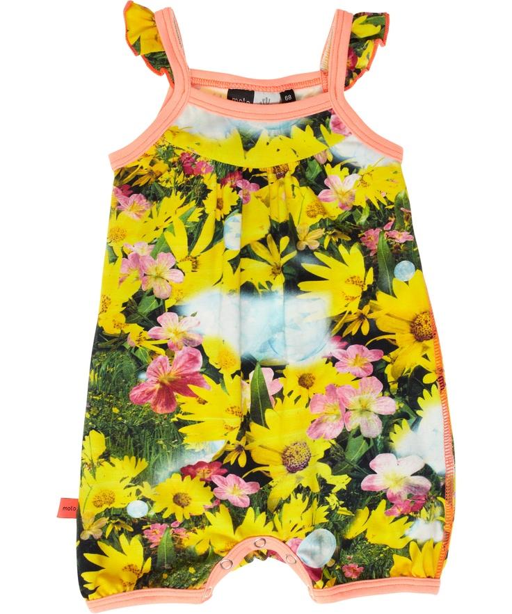 Summertime!! Molo mega schattig speelpakje met zomerse zonnebloem print #emilea