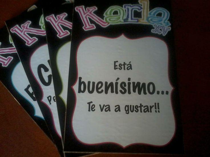 y si ponemos letreros en tu fiesta???  ;) By Linda Anguiano