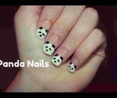 Fuzzy\Velvet Panda Nail Art ❤ - YouTube
