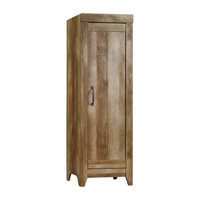 "Sauder Adept 22.68"" Narrow Storage Cabinet in Craftsman Oak & Reviews | Wayfair"