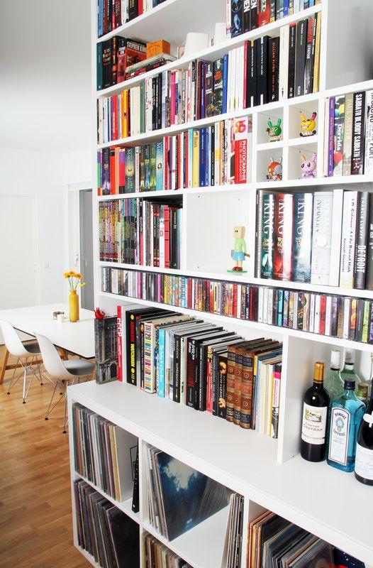 Bookshelves,  custom bookcase - handmade by  Designermade Norway