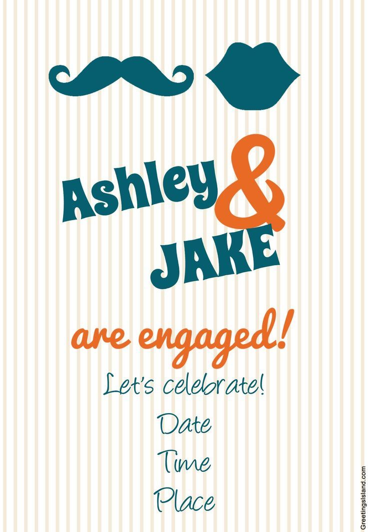 send a free printable engagement party invitation - Free Printable Engagement Party Invitations