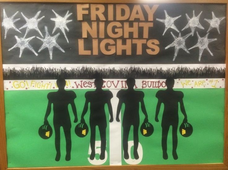 Library Displays: Friday night lights to promote a display with books featuring football: Library Displays: Friday night lights to promote a display with books featuring football