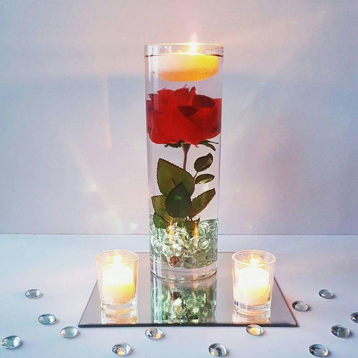 Floating Rose Centerpiece: Floating Candle Centerpiece, Rose Centerpiece, Beauty And
