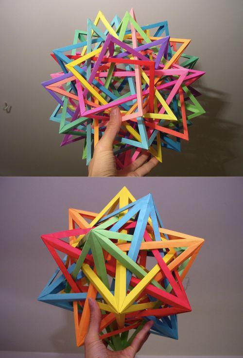 Interlocking Geometric Paper Art : origami modulars by daniel kwan
