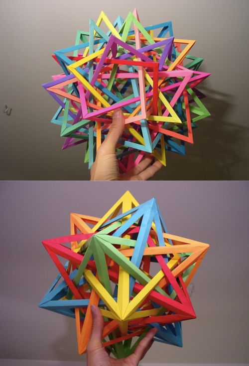 Interlocking Geometric Paper Art : origami modulars by daniel kwan                                                                                                                                                                                 More