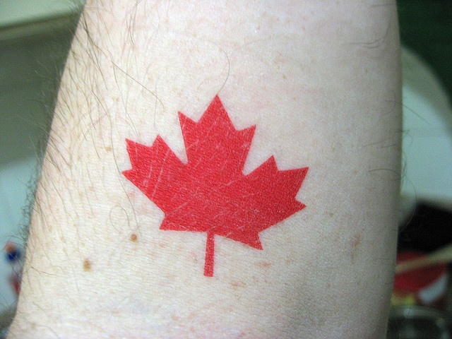The tattoo I'd get to commemorate the trip! Would place on my back. Maple leaf tattoo by dooq, via Flickr