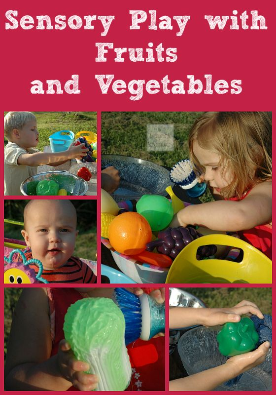 Wash the Farm: Fruits and Vegetables Sensory Play for ...