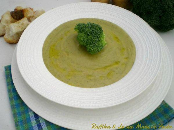 Vellutata di patate e broccoli,ricetta delicata