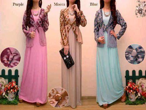 Model Baju Gamis Batik Kombinasi Sifon Trend Baju Batik