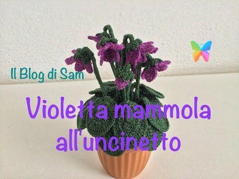 Spiegazione della Violetta mammola all'uncinetto - YouTube
