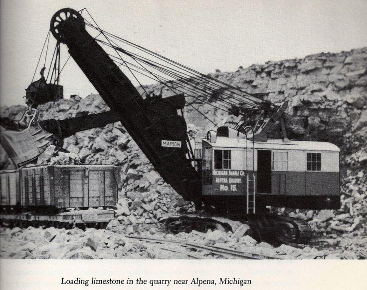 Cement City Michigan Cement Plant : Michigan alkali shovel at quarry operations in alpena