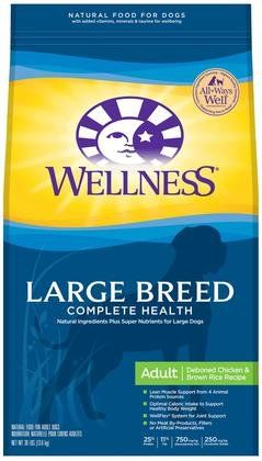 Wellness Complete Health Large Breed Health Recipe Natural Dry Dog Food - Chicken