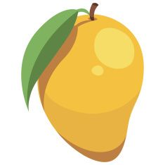 Mango Cartoon vector art illustration