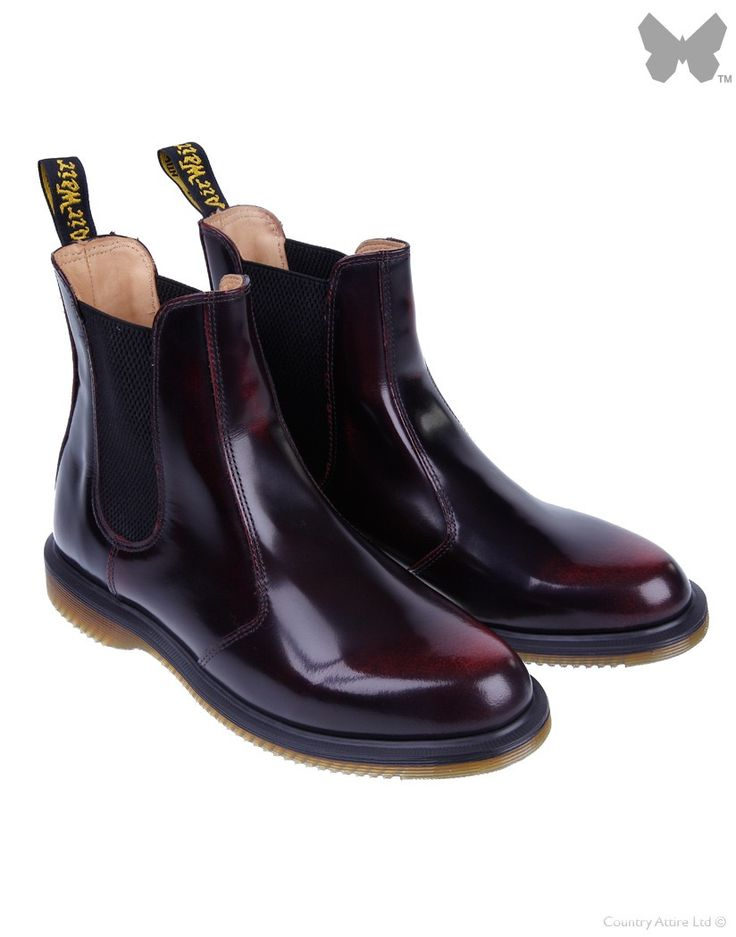 dr martens women 39 s kensington flora chelsea boots cherry red country attire. Black Bedroom Furniture Sets. Home Design Ideas