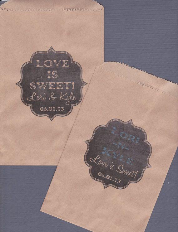 Candy Buffet Bag Kraft Paper Bag Custom Candy Bag by wreathartist, $12.50