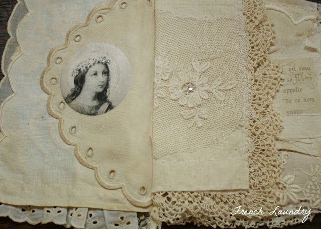 fabric journal by Judy McCallum @ French Laundry