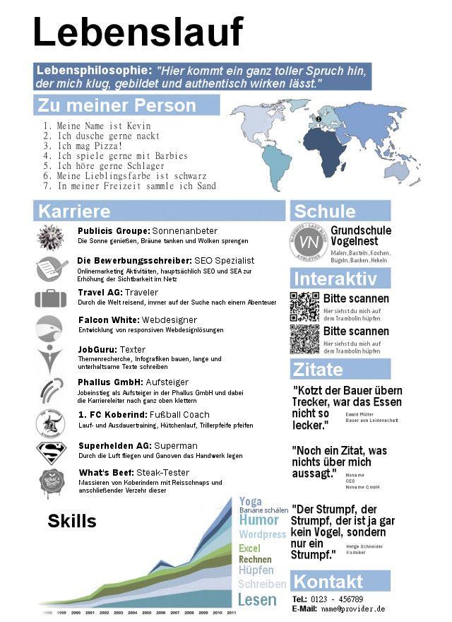 Lebenslauf Infografik Learn German German Language Teaching