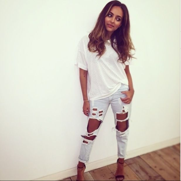 jade thirlwall style 2015 | Jade Thirlwall looks super stylish in on-trend ripped jeans