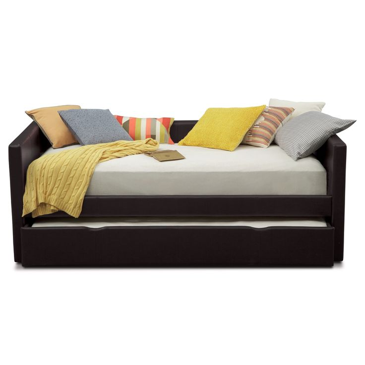 Carey Brown Twin Daybed with Trundle | American Signature Furniture